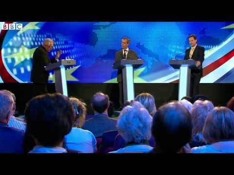 Nick Clegg and Nigel Farage Get Personal in BBC Debate 03/04/2014
