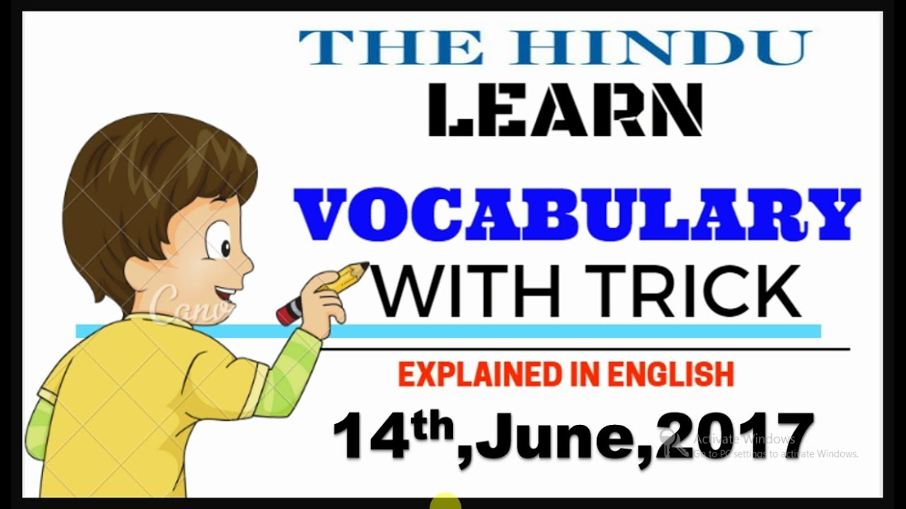 14,JUNE,2017,THE HINDU VOCABULARY EXPLAINED IN ENGLISH ...