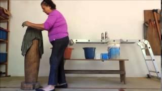 Como fazer um vaso de toalha e cimento