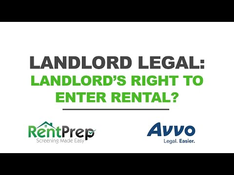 Landlord's Right To Enter The Rental Property