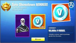 """SOLO SHOWDOWN"" LTM Gameplay UPDATE (HOW TO WIN 50,000 ""FREE V-BUCKS"" in Fortnite Battle Royale)"