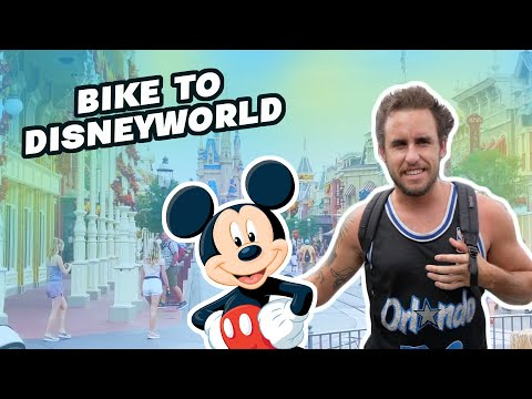 He rode a bmx bike to his favorite place ever!
