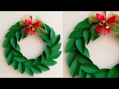 Christmas Wreath/Paper Christmas Wreath/How to make Christmas Wreath/Christmas Decoration Ideas