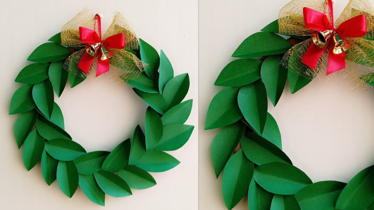 Christmas Wreath Paper How To Make Decoration Ideas