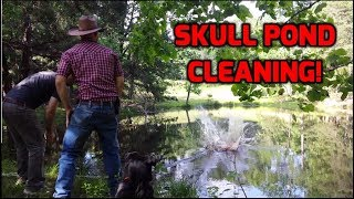 HOW TO CLEAN A SKULL IN A POND!