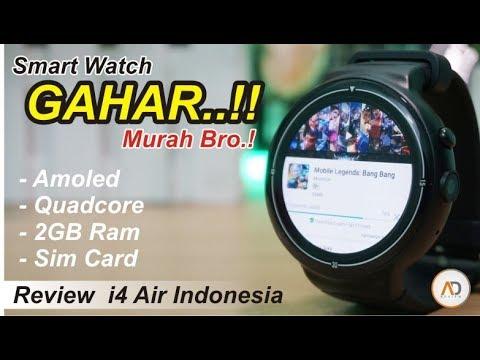 Smartwatch Murah tapi GAHAR - RAM 2GB, Quadcore, AMOLED | Review i4 Air INDONESIA