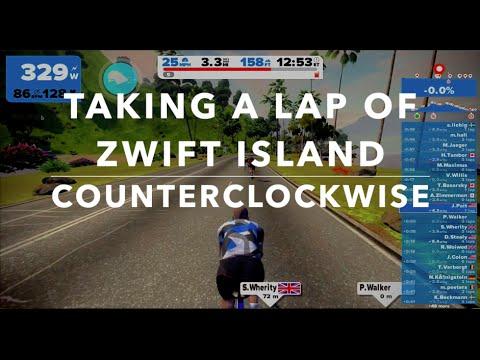 Taking a lap of Zwift Island - Counterclockwise