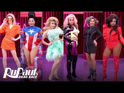 RuPaul's Drag Race All Stars 5 Queens RuVeal 🌟Werkroom Entrances