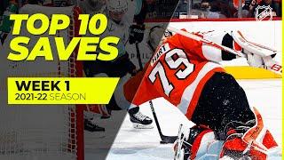 Top 10 Saves fŗom Week 1 of the 2021-22 NHL Season