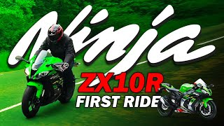 2019 18 17 Kawasaki ZX10R Ninja KRT Review, Road Test, Sound compared with the original 2004 bike.