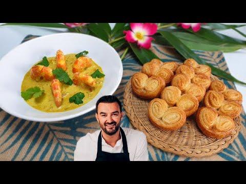 tous-en-cuisine-#51---je-teste-les-crevettes-curry-coco-et-les-palmiers-de-cyril-lignac-!