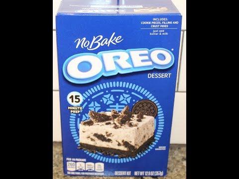 Oreo No Bake Dessert Preparation & Review