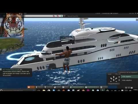 super mega barco en second life (E-Tech) Odyssey Mega Yacht Fully