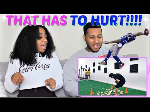 Dolan Twins 'Football Challenge with Odell Beckham Jr.!!' REACTION!!!!