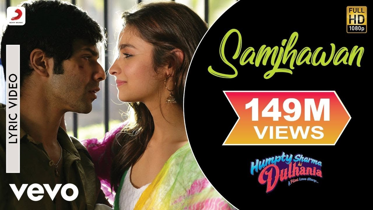 Samjhawan Lyric Video - Humpty Sharma Ki Dulhania|Varun,Alia|Arijit Singh, Shreya Ghoshal