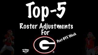 Top-5 UGA roster adjustments for NATTY RUN!! (Post-BYE Week)
