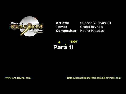 Grupo Brindys CUANDO VUELVAS TU Karaoke