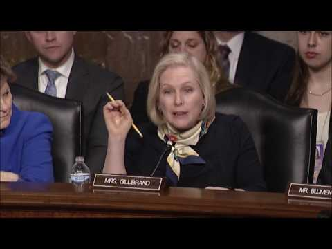 Gillibrand at SASC Hearing on Marines United Website