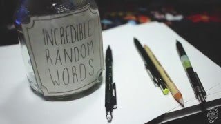"""Handlettering: Incredible Random Words """"Spring"""" with pencil and Mar..."""