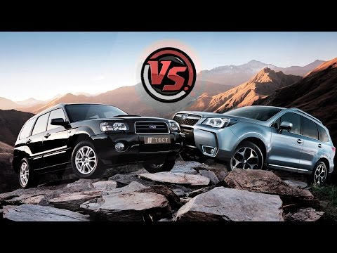 Subaru Forester 2016 VS  Subaru Forester 2004. 2 Лошадиные силы
