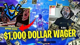 AFTER DARK NINJA $1,000 WAGER! WE BOTH CAST?! (Fortnite: Battle Royale)