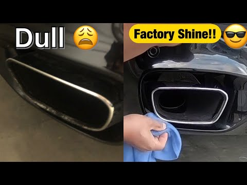 How to clean and polish your exhaust tips the easy way.