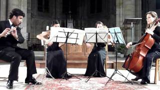 Mozart - flute quartet K285 - 2nd and 3rd movements
