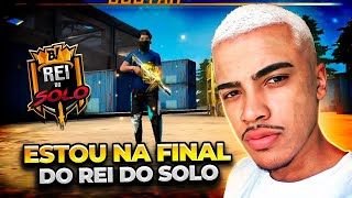 ESTOU NA FINAL DO CAMPEONATO SOLO DA GARENA - FREE FIRE