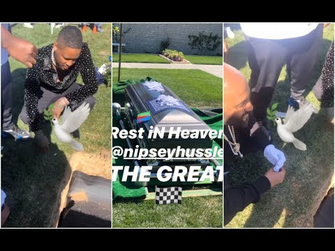 YG Smokes With Nipsey Hussle One Final Time At Cemetary