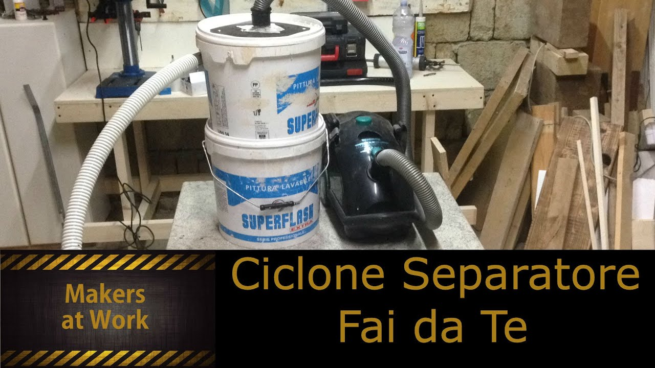 Fai da te ciclone separatore youtube for Panchine fai da te