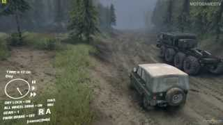 Spin Tires Technology Demo - UAZ Jeep Gameplay