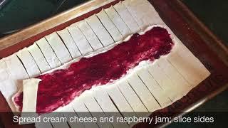 Raspberry Cream Cheese Strudel