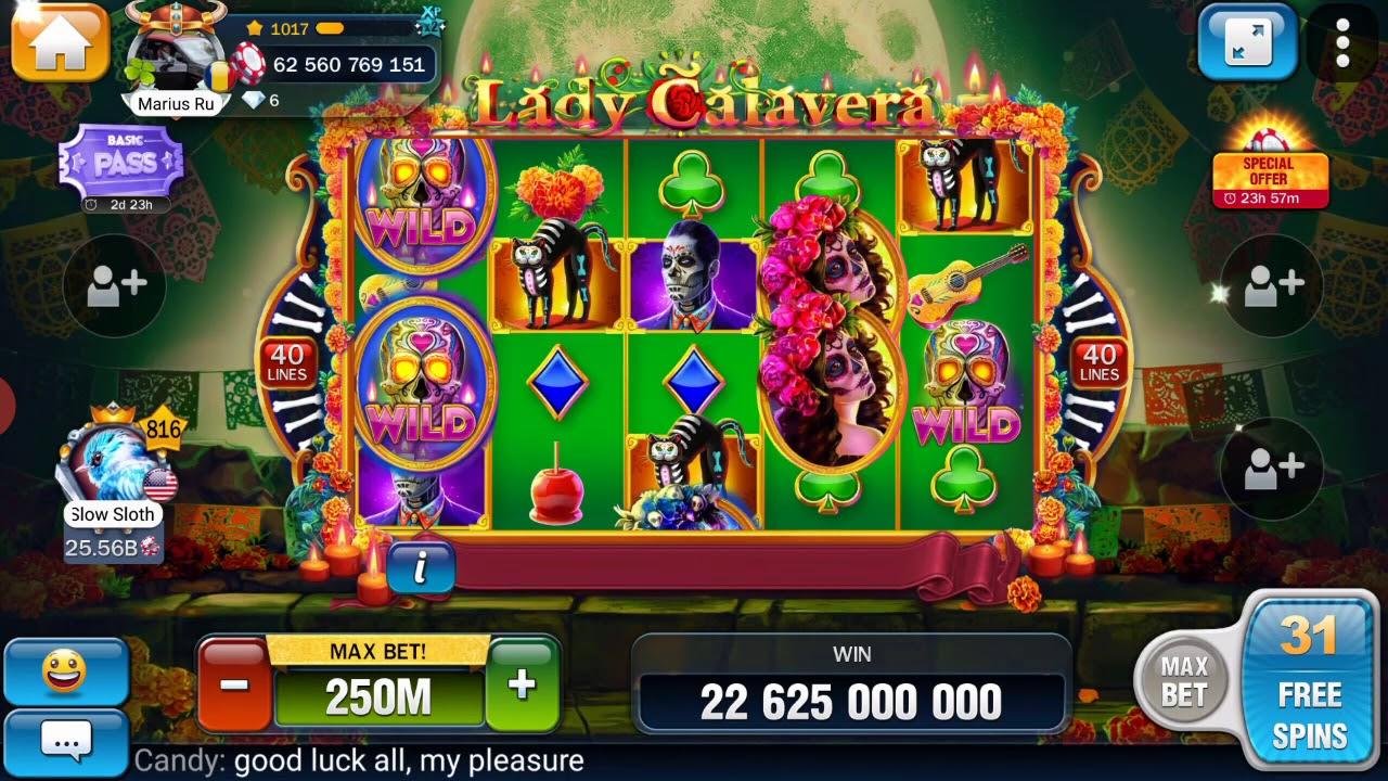 Huuuge casino free spin