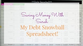 My Debt Snowball Spreadsheet! || Life With Sarah