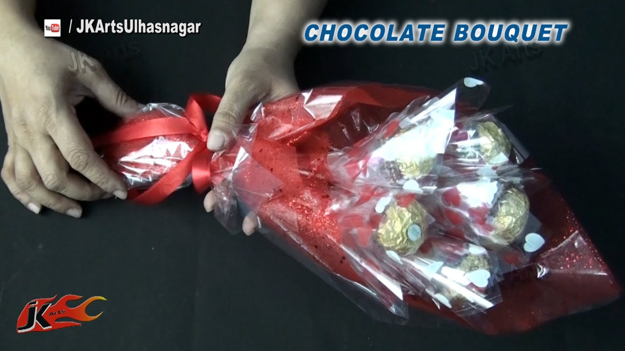 Diy valentines gift idea ferrero rocher chocolate bouquet how youtube premium izmirmasajfo