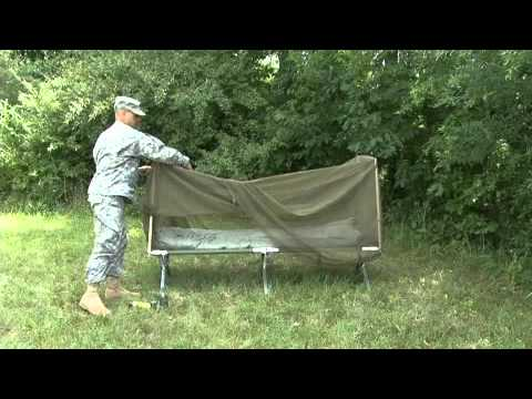 & Deploying a bed net with poles - YouTube