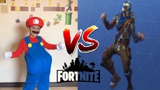 SUPER MARIO DOES FORTNITE DANCE CHALLENGE IN REAL LIFE! | SUPER MARIO TAKEOVER | LUIGI'S WORLD