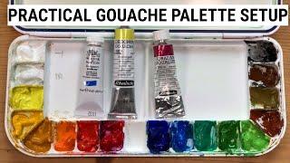 My favorite gouache palette setup