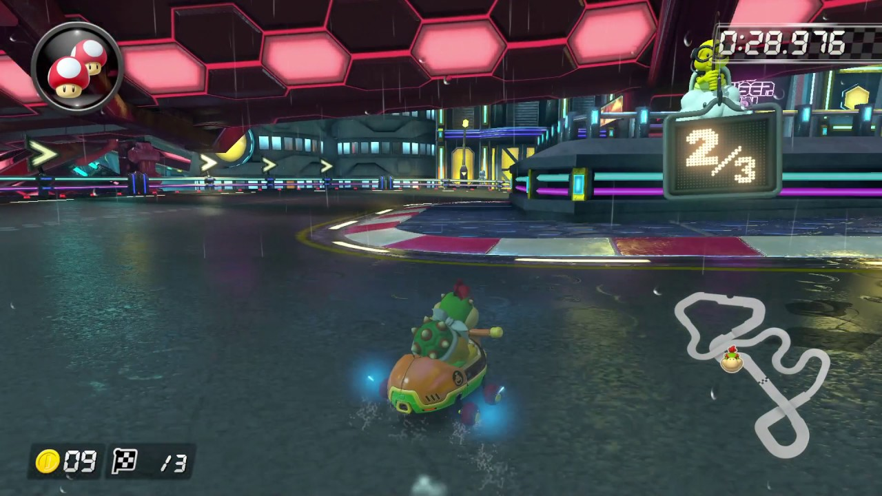 Mk8dx 3ds Neo Bowser City 200cc 1 23 782 Former World Record