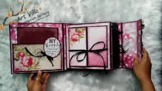 Handmade scrapbook cum album on wedding theme made on order 😍😍