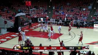 EWU MBB Highlights at Southern Utah (March 2, 2017)