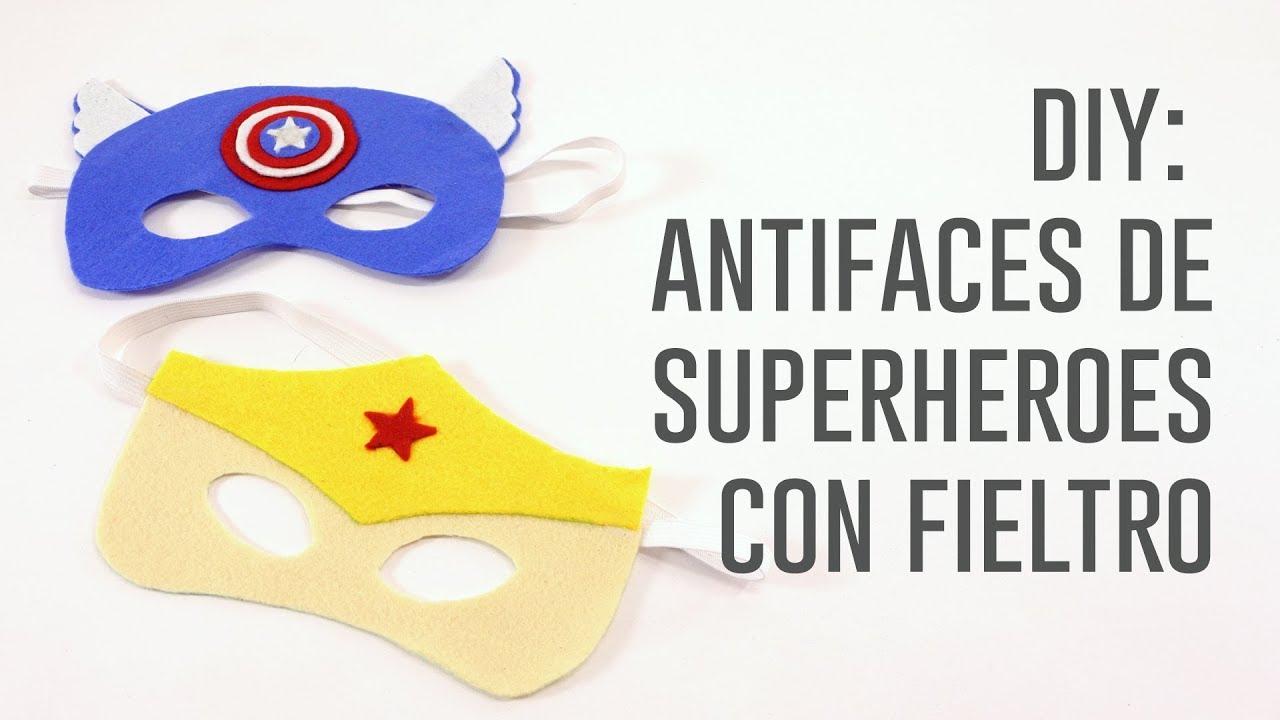 DIY antifaces de superhéroe con fieltro - YouTube