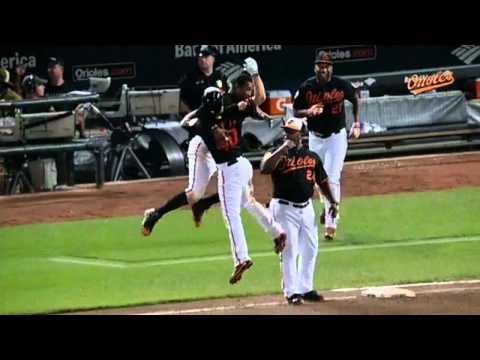 Baltimore Orioles Vs New York Yankees Nick Hundley Walk Off Single 2014