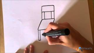 Dibujar una silla animada - Draw a chair animated