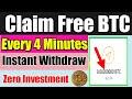 FREE 100 BITCOIN SATOSHI CLAIM EVERY 4 MINUTES  Live ...