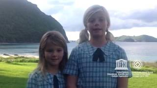 Hailey and Zoe #MyOceanPledge Lord Howe Island Group World Heritage marine site