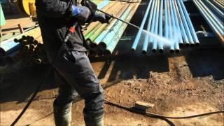 スーパー工業(株) - [高圧洗浄機]【土木・建築・リース】土木工事用仮設配管の洗浄