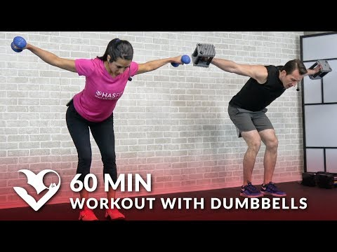 60 Min Workout with Dumbbells Full Body Workout for Strength Total Body Workout with Weights