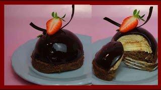 Weisse Mokkatörtchen mit dunkler Mirror Glaze - Mokka Mousse & Mirrorglaze - Kuchenfee