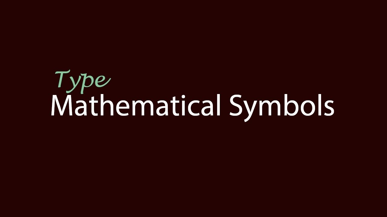 How to type mathematical symbols with keyboard urduhindi youtube how to type mathematical symbols with keyboard urduhindi buycottarizona